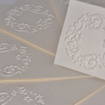 Placecards, Wedding Seating Cards, Table Cards, Embossed, Wedding Reception