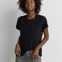 AEO Soft & Sexy Shrunken T-Shirt , Urban Black