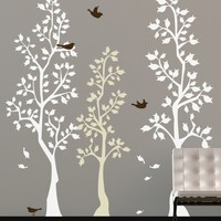 Vinyl Wall Sticker Decal Art  Spring Trees by urbanwalls on Etsy