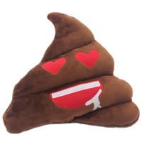Emoji Throw Pillows Poop Poo Soft Sofa Cushions Plush Toy