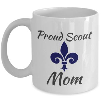 Proud Scout Mom Blue Mug