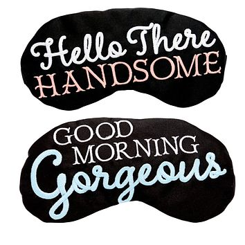 GOOD MORNING GORGEOUS & HELLO THERE HANDSOME EYE MASK SET