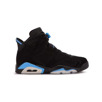 Jordan Men's Air 6 Retro, Black/University Blue
