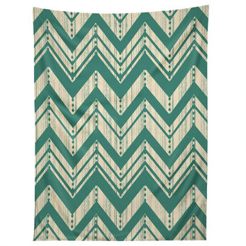 Heather Dutton Weathered Chevron Tapestry