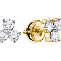 Diamond Fashion Earrings in 14k Gold 0.1 ctw