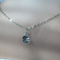 Oyster Anklet, Open Oyster with Pearl Ankle Bracelet, Silver Open Oyster, Tiny Silver Pearl in Oyster