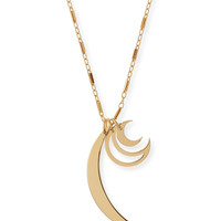 Raven Triple-Moon Charm Necklace - Jennifer Zeuner