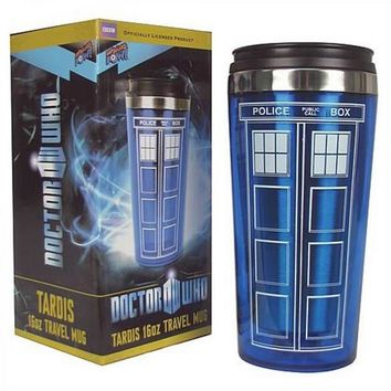 Doctor Dr. Who Tardis Coffee Cup With Lid