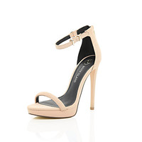 River Island Womens Nude barely there platform sandals