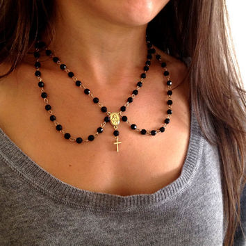 The rosary peter pan collar by CrossStJewelry on Etsy