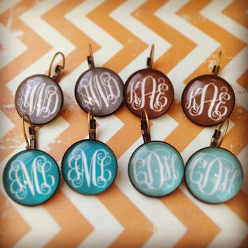 Personalized Lever Back Earrings
