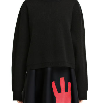 Acne Studios Misty Black Boiled Merino Wool Sweater