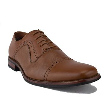 Ferro Aldo Men's 19527L Cap Toe Balmoral Lace Up Oxford Dress Shoes