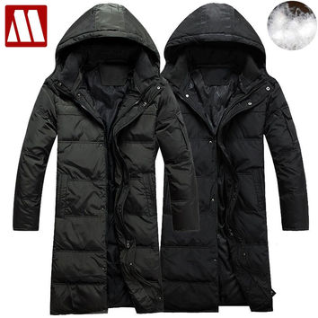Winter men's down coat, Long jacket for Winter Detachable cap warm down jackets Men