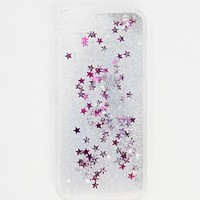 Skinny Dip iPhone 5 Silver Liquid Glitter Case
