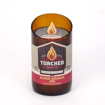 TORCHED BOMBER BOTTLE CANDLE