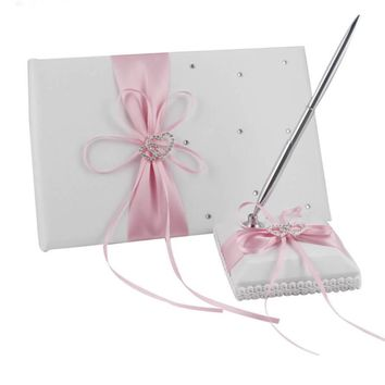 2pcs/lot Wedding Guest Book with Pen Set (8 colors)