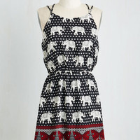 Boho Short Length Sleeveless A-line Pachyderms and Conditions Dress