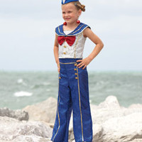 '40s sailor girl child costume-Chasing Fireflies