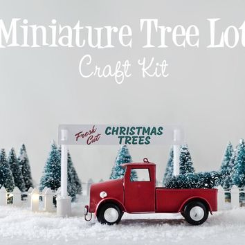Miniature Christmas Tree Lot - Christmas Decoration DIY Holiday Craft Kit