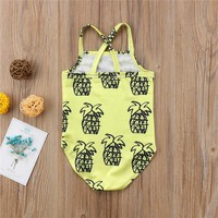 Abacaxi Kids Yellow Pineapple Swimsuit 12M-4T