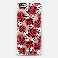 Red White Roses Cosmos Pattern iPhone 6 case by Organic Saturation | Casetify