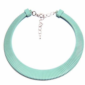 Wrapped Enamel Sheath Choker Necklace
