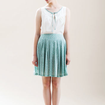 Valentine's day Sale, Mint skirt, Mini skirt, Womens skirt, High waist skirt, A line skirt, Classic skirt