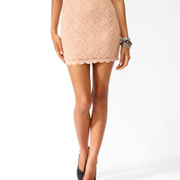 Scalloped Textured Lace Skirt