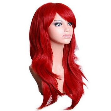 Long Wavy Cosplay Wig - 70cm/28in Synthetic Hair