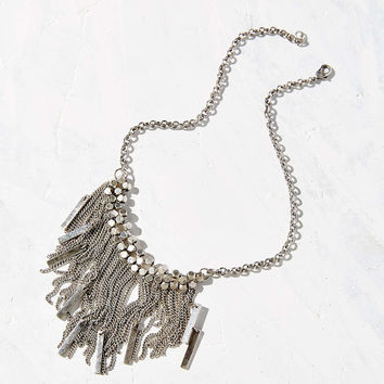 Shimmy Fringe Statement Necklace - Urban Outfitters