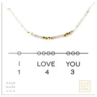 I Love You - Code Friendship Necklace 143 - Silver