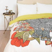 The Elephant Duvet Cover By Valentina Ramos- Multi Full/queen