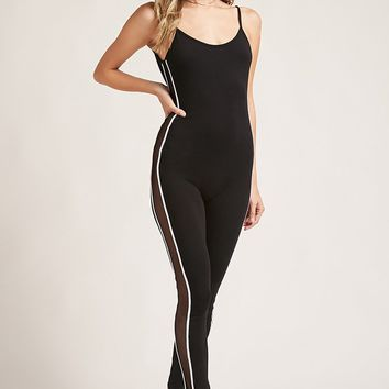 Mesh-Panel Jumpsuit