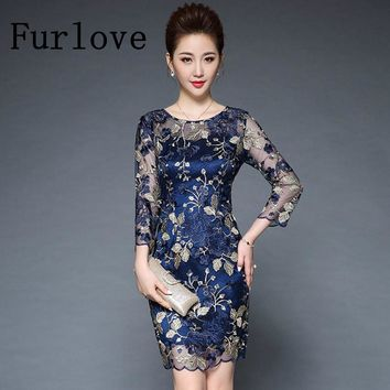 Luxury Lace Embroidery Dress Women Summer Vintage Penlic Slim Mini Casual Embroidered Floral Bodycon Party Dresses Plus Size 5XL