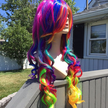 Calista // Multi colored full synthetic wig