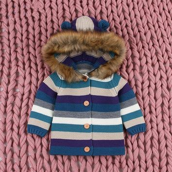 2018 Winter Clothes Toddler Baby Boy Sweater Baby Children Clothing Boy Girls Knitted Cardigan Sweater Kids Spring Knit Sweaters