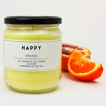 Happy Orange Scented Soy Jar Candles
