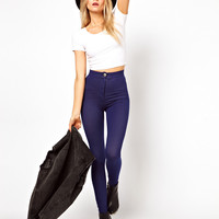 ASOS Tube Pants in Denim Effect