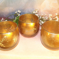 Gifts of Gold Silver Mercury Votive Candle holders for Weddings, Parties, Gifts, Events.