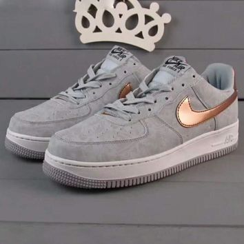 Nike Air Force 1 Jade AF1 Women Men Running Sport Casual Shoes Sneakers Air force Grey