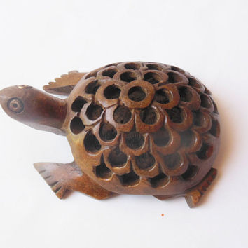 turtle hand carved wood