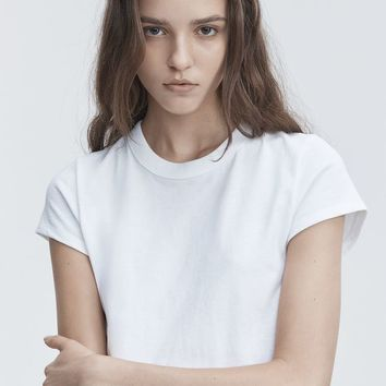Alexander Wang SHORT SLEEVE BODYSUIT TOP | Official Site