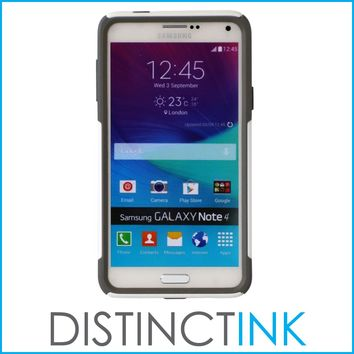 DistinctInk™ Custom White OtterBox Commuter Series Case for Samsung Galaxy Note 4 - Marijuana Leaf Photo