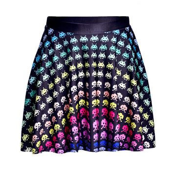 New Funny 3D Emoji Cartoon Summer Mini Skirt