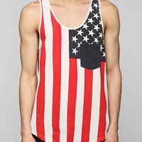 Americana Pocket Tank Top- Blue