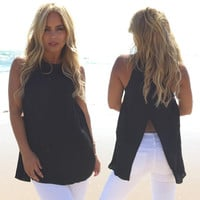 Part The Sea Blouse In Black