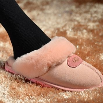"""UGG"" Fashion Winter Women Flat Warm Snow Ankle Slipper Shoes Boots"