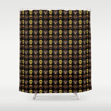 Halloween Shower Curtain by Kathead Tarot/David Rivera