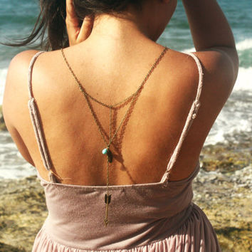 Boho Necklace Back Drop Body Jewelry  Piece by FunnyPeopleCo